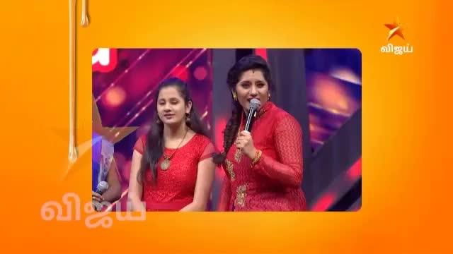 #tamil #hahatv #tamil reality show #vijaytelevisionshowevent #supersinger #what a romantic look ?😂😂 #unnikrishnan #tamilsinger