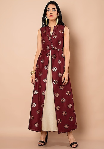 Fall In 💘 With Our Indya Styles Available SHOP Inner Maxi Tunic - https://goo.gl/NiEQn8  Oxblood Motif Mock Inner Maxi Tunic ₹ 2950  @fab_alley   #faballey #women-clothing #dress #roposo #fashion-addict #party-edit #party #party-wear #clothes #new-year #loveyourself #Maxi-Tunic #Oxblood #beauty #styles #Motif-Mock #Inner-Maxi-Tunic #love #followme #styles #like #fashion #hello2018 #2018 #newyear #celebration #happynewyear #trending #valentine