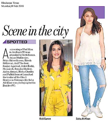 #kritisanon wearing #MahimaMahajan separates spotted in #hindustantimes #Mumbai edition!