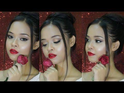 Valentines Day Glam makeup tutorial 2018 || Date Night Makeup || Sayantani Some || Kolkata India   #ropo-beauty #ropo-love #valentinesweek #valentinesdayoutfit #valentinesdaymakeup #valentinesdaymakeup2018 #valentinesdaylook #valentinesdaymakeuplook #valentinesday #2018valentinesday #redlips #redrose #makeuptutorial #makeuplook #howto #howtodomakeup #redmakeuptutorial #valentinesdayspecial