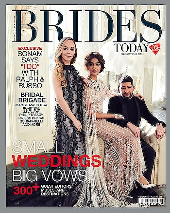 It's a 🔥#February with @sonamkapoor @ralphandrusso for the launch of Brides Today magazine by India Today Group. #sonamkapoor #ralphandrusso #magazine #internationaldesigner #magazinecover