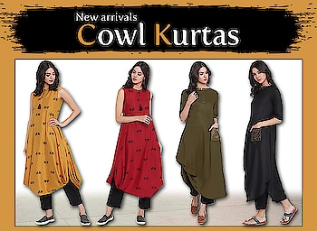 Cowl kurtas!  http://bit.ly/2tLO0F5  #9rasa #studiorasa #ethnicwear #ethniclook #fusionfashion #online #fashion #trendy #styles #ss18collection #kurta #cowlkurta