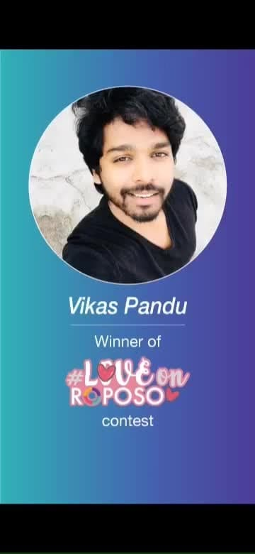 #Roposo contest #LoveOnRoposo is now over. And here's our romantic winner of the contest: VIKAS PANDU.  Congratulations on winning a dinner date worth Rs. 3000 and have a great Valentine's celebration.