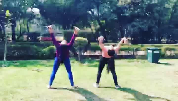 #workout #workouttime #dance #dancerslife #warmupexercise