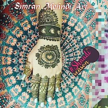 Simran Mehndi Art #heartshaped floral design #heenalove#mehandi #dulanmehndi #shaadiseason