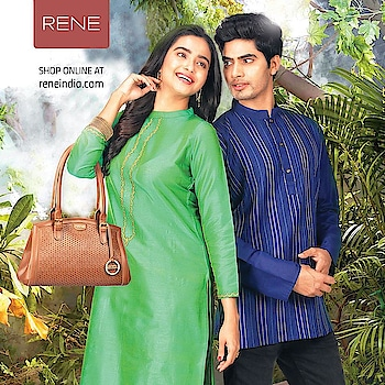 The Blue Kurta from the Ethnic series is designed to keep the ethnic lovers to go stylish along with this beautiful Green Long Kurti!  Shop it here: https://buff.ly/2ES9UjL  #Kurta #Men #Kurti #Women #Ethnic #Rene #Reneindia