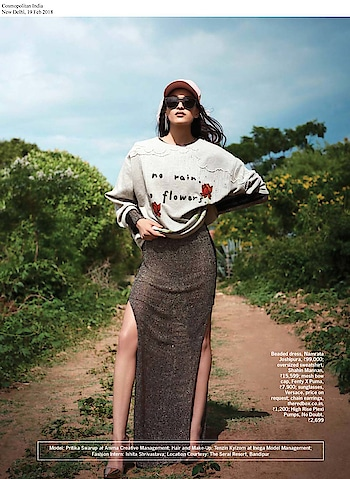 A model wearing #shahinmannan top featured in @cosmoindia #March issue   #DIPublicRelations #Features