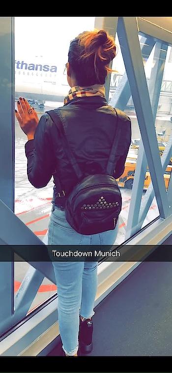 Finally landed At Munich 😍😍 : #munich #munichgermany #socold #snowfall #snow #cold #winters #wintervacation #flight #travel #traveldiaries #traveller #travelblogger #luxurytravel #travelgram #travelandleisure #europe #europetrip #holidays #nehamalik #model #actor #blogger #instagood #instlike