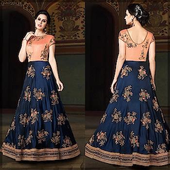 Look Like a diva in this stunning Navy Blue and Peach Gown. Grab this Gorgeous style @ https://goo.gl/uLYTrR #gown #cocktaildress #bollywood #bollywoodfashion #newarrivals #indianwedding #weddingfashion #ethnicwear #Navyblue #Anarkalisuit #Anarkalidress #buyonline #peach #golden #sneakpeek #indowestern #manndola #USA #India #Canada #Australia #Dubai #UAE #Mauritius #London #Uk