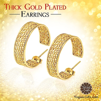 The Thick Gold Plated Earrings are characteristically made with a traditional touch. The back of these earrings also make a statement. 😍😍😍😍😍😍😍😍😍 #jewelry #supplier #earring #goldplated #yellow #jewels #voguecrafts #jewelsinindia #jewelsanddesigns #manufacturer