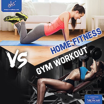 Home fitness VS Gym Workout  What will you prefer??   #AbsFitness #Absfitnessnasik #fitness #fit #motivation #inspiration #gymlife#6pack #muscles #timetotransform  #workout #workout #workhard #homeworkout #athomeworkout #homefitness #bodymovement #homegym #hometraining #HomeWorkout
