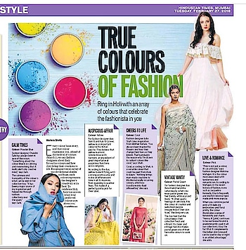 #sukritiandaakriti & #mahimamahajan 's #TuesdayThoughts on their colours inspirations this #holi2018 featured in #hindustantimes 💕  #DIPublicRelations #Features