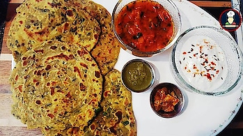 "Methi Paratha / Thepla (4 ways)(Healthy) | Fenugreek Leaves Indian Bread | मेथी का एकदम खस्ता परांठा | Namkeen Paratha | Gujarati Food | Rajasthani Food | Indian Food | Healthy Bread | Flat Bread | Fenugreek Greens | Methi Thepla  To get this recipe and many more subscribe our Youtube channel, The link is given here: https://www.youtube.com/channel/UCu72ljuuwJVGytVqGS3nPBg/?sub_confirmation=1  Methi Paratha (Methi Chapati or Methi Thepla) is a very popular Indian Bread Recipe which is prepared in many house holds in India (Bharat), Mostly during Winters when the Fresh Methi leaves are at boom in the market, This is an Indian Flat bread, which is prepared using Methi ke patte (leaves) or Fenugreek Greens by kneading it with flour and adding some spices. Learn how to make Methi Paratha / Thepla in 4 different ways in this video, Its really delicious, healthy and nutritious treat for your family (especially Kids) and Friends. This Paratha can easily be served in Breakfast, Brunch, Lunch or Dinner.   Methi is a very delicious herb, which enhances the flavor of any food in which you add them, It Improves Digestive Problems and Cholesterol Level, Reduces Inflammation Inside the Body, Increases Libido in Men/Women, Promotes Milk Flow in Breastfeeding women, Lowers Inflammation from Outside the Body, Adds Flavor and Spice to Food.   Try this recipe and share your experience with us in the comments section below.   Subscribe to Big Fooodies channel @ https://www.youtube.com/channel/UCu72ljuuwJVGytVqGS3nPBg/?sub_confirmation=1  Connect with Big Fooodies on Social Media:  Facebook: https://www.facebook.com/Big-Fooodies-1545166285582259/ Instagram: https://www.instagram.com/big.fooodies/ Twitter: https://twitter.com/BigFooodies Google+: https://plus.google.com/108185680323591223388 Tumblr: https://www.tumblr.com/blog/bigfooodies Pinterest: https://www.pinterest.com/bigfooodies LinkedIn: https://www.linkedin.com/in/big-fooodies-62656a158  If you like our recipes please subscribe, like and share them.  #methi #methiparatha #fenugreekleaves #fenugreekleavesparatha #paratha #indianbread #namkeenparatha #methiparatharecipe #bigfooodies #foodies #bread #fenugreek #leaves #maincourse #indianfood #thepla #methiparatha #methithepla #gujratidish #delicious #yummy #food #lunch #dinner #breakfast #brunch #fenugreekgreens #flatbread #healthybread #methikaparatha #vegan #indian #asian #nepal #pakistanifood #paratha  Spices / Utensils / Appliances used in this video can be found here:  Indian Spices:   The Vegan Indian Cooking Gift Set, Includes Basic Set of 6 Spices and A Spice Tiffin Masala Dabba http://amzn.to/2DLk4Pi  Complete Gourmet Seasonings, Spices and Sea Salts Collection  http://amzn.to/2GufK8S  INDIAN | Seven Organic Indian Seasonings in Gneiss Spice Small Magnetic Jars (7 Jars, Silver Lids) http://amzn.to/2EuiJxu  Spice Package - 7 Indian Spice Kit http://amzn.to/2DPYtt4  Griddles:  Presto 22-inch Electric Griddle With Removable Handles: http://amzn.to/2nvrwak  Lodge Cast Iron Reversible Grill/Griddle, 20-inch x 10.44-inch, Black http://amzn.to/2DTfLSd  Presto Cool-Touch Electric Ceramic Griddle, 20"", Black http://amzn.to/2DNzLFL  OXO Good Grips Non-Stick Pro Dishwasher safe 11"" Square Griddle: http://amzn.to/2E5hUxw  Calphalon Hard-Anodized Nonstick Cookware, Square Griddle Pan, 11-inch, Black http://amzn.to/2E58rpR  IMUSA 4.5"" Hard Anodized Tadka (Tempering) Spice Heating Pan, Black http://amzn.to/2E16Hhk  Indian Tawa (Griddle):  Hawkins-Futura Hard Anodized Concave Griddle Tava, 11-Inch Diameter http://amzn.to/2DOCXRt  12 inch size Iron tawa cooking utensil cookware kitchen tava chapati roti maker http://amzn.to/2DSiwmL  Premier Non Stick Mini Uthappam/ Pancake/ crepe Tawa - 28 cm http://amzn.to/2E4LVgY  IMUSA Stainless Steel Handi 8.5-Inch, Copper Bottom http://amzn.to/2FA0rKJ  Set of 4, Indian Copper Serveware Karahi Vegetable Dinner Bowl with Solid Brass Handle for Food, Diameter- 13 Cm (5.2 Inches) http://amzn.to/2E5ivPF  Selvel Air Lock 10x10 inch Unique Decorative Serving Tray & 4 Bowls with Lid, Nut, Snack Serving Tray- Unique Christmas gift item, New Home/Housewarming, Party Serving Bowl (Green) http://amzn.to/2DOczah  Set of 2 Prisha India Craft Handmade Steel Copper Handi with Lid - Copper Serving Handi Bowl - Copper Serveware Dishes Bowl Dia - 5.00"" X Height - 2.25"" - Christmas Gift http://amzn.to/2BI74Im  Kitchen Tools:  Island Bamboo 13 Two Tone Wooden Spoon & Spatula 4pc: http://amzn.to/2ny1JOG  Rainbow in lights 5 Piece Bamboo Wood Nonstick Cooking Utensils, Wooden Spoons With Multicolored Silicone Handles In Red Yellow Green Orange Blue http://amzn.to/2rRjkXC  Island Bamboo Red Wooden Spoon Set http://amzn.to/2EtqsMa  Ghee:   ORGANIC VALLEY Certified Ghee Clarified Butter 3Pack (13oz Each) Gflld http://amzn.to/2BUsfqT  (4 PACK) - Fushi Organic Ghee - Grass Fed