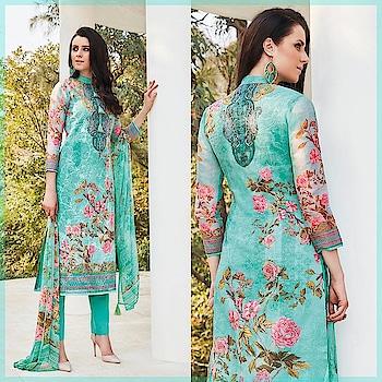 Fresh arrivals to get your Summer Season wardrobe ready! Shop this Lovely Sea Green Casual Wear Cotton Suit @ https://goo.gl/i7XSKb #newarrivals #shoponline #summercollection #jinaam #manndola #seagreen #digitalprint