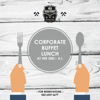 Now this is one corporate lunch that won't burn a hole in your pocket. Choose from our wide range of tex-mex inspired dishes for a delectable lunch break!  For reservations call us at: 022 6537 6677   #OldWildWest #Mumbai #SouthMumbai #LateNightMumbai #KamalaMills #LowerParel #CowBoy #Bars #Party #BarsOfBombay #Nightlife #MumbaiNightLife #MumbaiFoodie #Cocktails #CocktailsOfMumbai #Scoopwoop #Zomato #TexMex #FoodOfMumbai #DrinksOfMumbai #Foodies #Foodlove #GoodFood #FoodHolic #Burrp #Worli #HappyHour #mixology