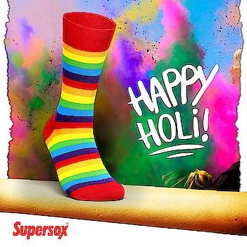 #Supersox #HappyHoli #happyholi2018 #Holi2018 #Celebrations #Festival #ColoursOfSafety #FestivalOfColours #Holi #holihai #Socks #FootFashion #MenStyle #Accessories  #SocksLover #LoveSocks #sockswag