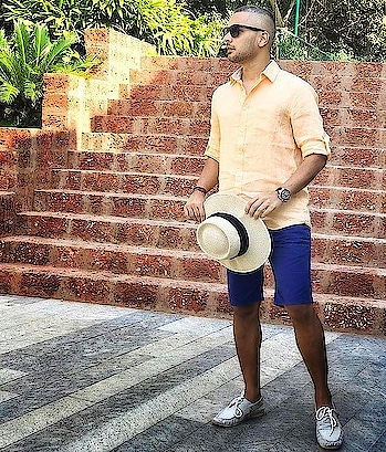A shirt and a pair of shorts is a match made in our own little heaven||Credit-Riaan J. George|||#MensWorld #MenStyleGuide #MenStyle #MenFashionTips #MenFashionStyle