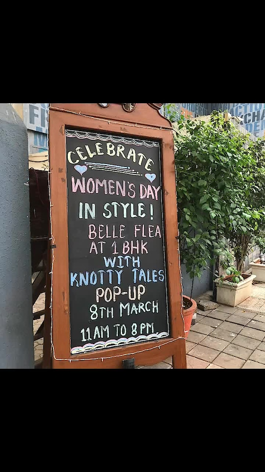 """Celebrate woman's day with shopping , good food and live music at """"belle flea"""" mkt in my restaurant """"1bhk brew house Kitchen"""" oshiwara , Andheri West , mumbai on 8th March. Let's have some fun"""
