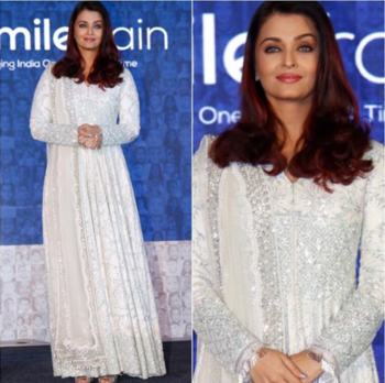 Aishwarya Rai In A White Chicken Anarkali  @forever21  Skirt - @zara  Pic Credits - @harrysphotographyofficial  Location courtesy - @decoderajouri  #forever21 #zara #portraits #ootd #beautiful #shots #instafashion #blogger