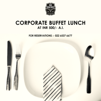 Give that black tie something delicious to look forward to.  Treat yourself to the scrumptious corporate buffet lunch at Old Wild West at just INR 500, on all weekdays.   For reservations call us at: 022 6537 6677  #OldWildWest #Mumbai #SouthMumbai #LateNightMumbai #KamalaMills #LowerParel #CowBoy #Bars #Party #BarsOfBombay #Nightlife #MumbaiNightLife #MumbaiFoodie #Cocktails #CocktailsOfMumbai #Scoopwoop #Zomato #TexMex #FoodOfMumbai #DrinksOfMumbai #Foodies ‬‪#Foodlove‬ ‪#GoodFood #FoodHolic #Burrp #Worli #HappyHour #mixology