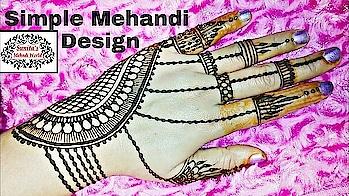 Simple Mehandi Design.by' Mehndi world'