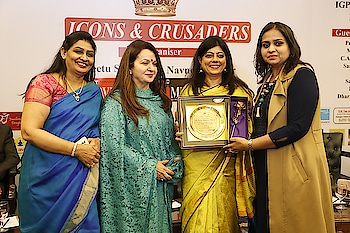 """""""Icons & Crusaders"""" honoured at a glittering Women's Day event in the capital  By Bipin Sharma  Navdrishti Times hosted an exclusive Women's Day event at Hotel Le- Meridien on 7th March'2018. The highlight of the event was the felicitation of various achievers and crusaders from different fields, launching of """"NDT Icons & Crusaders"""" Magazine, followed by an animated panel discussion on the """"Role of Women Empowerment in Nation Building"""". Women's Day celebrated every year on 8th March plays a pivotal role in spreading awareness towards various issues concerning women, in addition to bringing to fore the myriad accomplishments of women achievers. In the true spirit of the festivity, the awards were conferred not only to women achievers, but to men achievers as well.  Neetu Singhal (Chief Editor, Navdrishti Times) and Navneet Grover (Fashion Show Director) played the perfect hosts of the event as they personally received the guests at the entry. The Chief Guests Shahnaz Husain, MP Dr Sushil Gupta and Kiran Chopra (Chairperson, Punjab Kesari Group) got a rousing welcome when they entered the event venue. Addressing the audience, senior Media Personality Bipin Sharma, expressed optimism about Dr Sushil Gupta playing a more crucial role towards the cause of the common man in his new innings as the MP in the Rajya Sabha. A role much bigger than what he had been playing all these years as a social activist and philanthropist. Bipin also enlightened everyone present on how """"Global Pioneer of Ayurveda"""" Shahnaz Husain had done the entire country proud by becoming a """"Subject"""" at the Harvard Business School, besides dedicating a lifetime towards spreading the wide spread benefits of """"organic beauty care"""".  The distinguished Guest of Honour's were Renu Hussain, Nivedita Basu, Entrepreneur Saurav Gupta, Pradeep Mittal, Social activist Meena Gupta, Virender Garg, Anuradha Khanna, Sanjeev Goenka, Dr Jai Madaan, Dr Anjumaan Nayyar (Life Coach), Anurag Gupta (Country Head-Max Bupa), Di"""