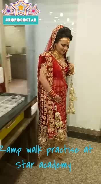 I got a chance to wear my wedding lehenga once again for a quick ramp walk at Star academy. so excited and please to wore it again.  #wedding-outfits #lehengalove #bridal-jewellery #bridalmakeup #makeupartist #mestylooo #delhiblogeer #blogginggals #fashionation #roposostar