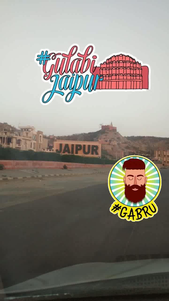 #welcome #to #jaipur 🤘😎 #gabru #gulabijaipur