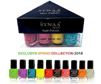 Check out Synaa Nail Polish Spring Collection 2018 - Multicolor Set 4. The most exclusive and elegant colors of this season. Shop now @ http://synaa.com/nail-polish  #synaa #nailpolish #nailpolishset #nailpolishpack #synaanailpolish #nailcolor #nailenamel #springcollection #springcollection2018 #beauty #makeup #multicolornailpolish #nailpolishshades #beautyproducts #makeupproducts #cosmetics #colorshades