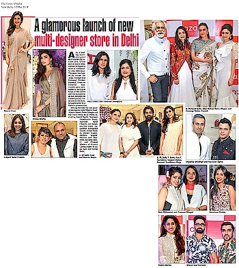 #ridhimehraofficial alongwith the beautiful #nimratkaur in the label's creation featured in #timesofindia #Delhi edition!  #DIPublicRelations #Spotted #Features