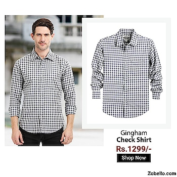 The terrific Tuesday fashion calls for our gingham check shirt | Get your black denim and white plimsolls out | Shop @ https://goo.gl/1HJkiS #zobelloclothing #menswear #fashion #shopping #onlineshop #shirts