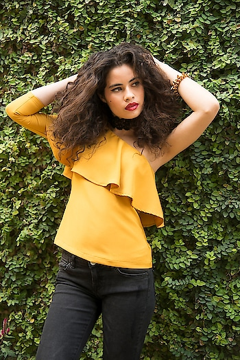 Say hello to your new wardrobe faves  SHOP One Shoulder Ruffle Top - https://goo.gl/fGY1t9  Mustard One Shoulder Ruffle Top ₹ 1600  @fab_alley   #faballey #women-clothing #roposo #fashion-addict #party-edit #party #party-wear #clothes #Fashion #loveyourself #Ruffle-Top #One-Shoulder #beauty #styles #love #followme #like #fashion #Top #celebration #trending #roposogal #wow #roposolove #Mustard #Spring #Summer