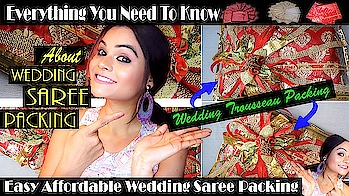 New video is up on my channel now 🤓 All about trousseau packing and saree packing for Indian weddings. #trousseau #trousseaupacking #weddingtrousseau #weddingsaree