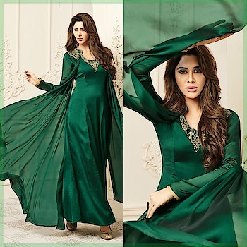 Bright and Beautiful ! Grab this Stunning Ready to Wear #DarkGreen Kurti @ https://goo.gl/661AGA Available in Size - S,M,L,XL,XXL #beauty #Kurti #KurtisOnline #BuyOnline