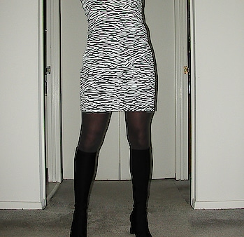 Zebra dress and boots #zebra #zebraprint #zebradress #boots #blackboots #tights #ropo-style #ropo-love #ropo-fashion #ropo-share #share #copy #blog #reblog #roposo #roposo-style