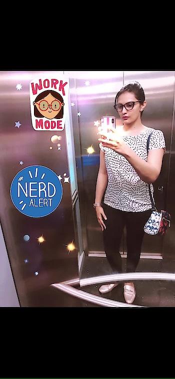 #workmode #nerdalert #cateye #glasses