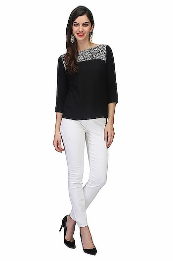 Printemps Casual 100% Viscose Black Stylish Top for Women & Girl  MATERIAL: 100% Viscose Pattern: Solid 3/4 Sleeve  #womens #fashion #top #stylish #designer #trendy #fashionable #casual #dailywear #partywear   Buy Now:- http://amzn.to/2DAhCu2