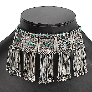 Title - Avni Creation Sea Blue Chain Choker (chain for women, women chain, party wear color chain, stylish chain color, trendy chain, fashion wear, trendy wear)   Selling price - 550  Link - https://www.amazon.in/dp/B078V6WS8M