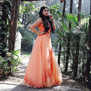 Get you a Perfect Cinderella Moment in Our Peach Flare Gown !! . @payal3039 . Book Outfits Online !!  www.rentanattire.com Contact 7722009477 for any Queries !!  #FairyTaleGowns #FlareGowns #RentalWear #GownsOnRent #LoveRentals #Pastels #CinderellaMoment #WhyBuyWhenYouCanRent #FashionableRents #PreweddingShoots #Reception #sangeet #Gowns #RAACollection #RAAClient #HappyRenting #ShopLessRentMore #RentAnAttire #Pune #Delhi #Dehradhun