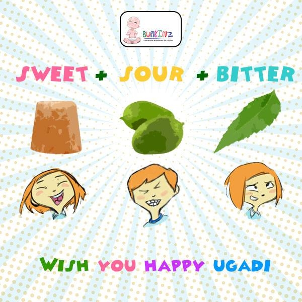 #Mangos for #Surprise #Neem for Sadness #Jagerry for #Happiness May all these #flavours fill your life in #Balance  Happy #Ugadi!  #Fashiondesign #Kidswear  #Bumkinz  www.facebook.com/Bumkinz