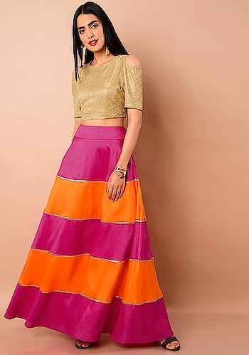 We've Got Skirts For Your Every Mood!   SHOP Maxi Skirt - https://goo.gl/ierffg  Orange Pink Color Block Silk Maxi Skirt ₹ 2800  @Indya  #faballey #women-clothing #roposo #fashion-addict #party-edit #party #party-wear #clothes #Fashion #loveyourself #Maxi-Skirt #Block-Silk #beauty #styles #love #followme #like #fashion #Skirt #celebration #trending #roposogal #wow #roposolove #Orange-Pink #Summer #Wedding
