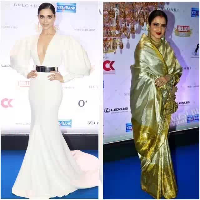 Major fashion, glamour and couple goals seen at the Hello Hall of Fame Awards this weekend. #fashion #bollywood #redcarpet #hellohalloffameawards #hellohalloffameawards2018 #hhof18 #celebritystyle #deepikapadukone #rekha #kritisanon #adasharma #poojahegde #nusratbharucha #shwetabachchan #isakaif #kritikharbanda #iuliavantur #shahrukhkhan #gaurikhan #michellepoonawalla #mirarajput #monicadogra #houseofmisu #mandirabedi #elenafernandes #mensfashion #karanjohar #ranveersingh #siddharthmalhotra #rajkumarrao