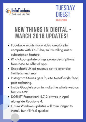 #march #tuesdaythoughts #infotachus #trends #newthings #digital