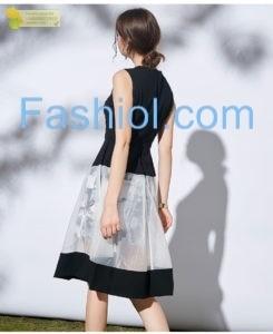 Black round neck sleevless floral dress https://www.fashiol.com/