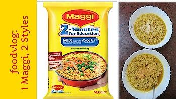 Foodvlog: 1 Maggi Served In 2 Styles | #vtraveller
