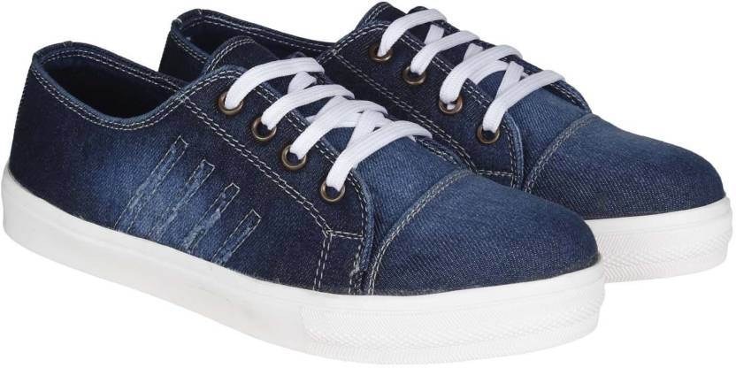 FANGIRL Casual Stylish Canvas Blue Denim Sneaker shoes for Women Sneakers For Women  (Blue)  Colour: Blue Outer Material: Canvas  #footwear #shoes #sandal #boot #stylish #designer #trendy #partywear #casualwear #men #women #flat #sneaker  Buy Now:- http://bit.ly/2pvIWFL