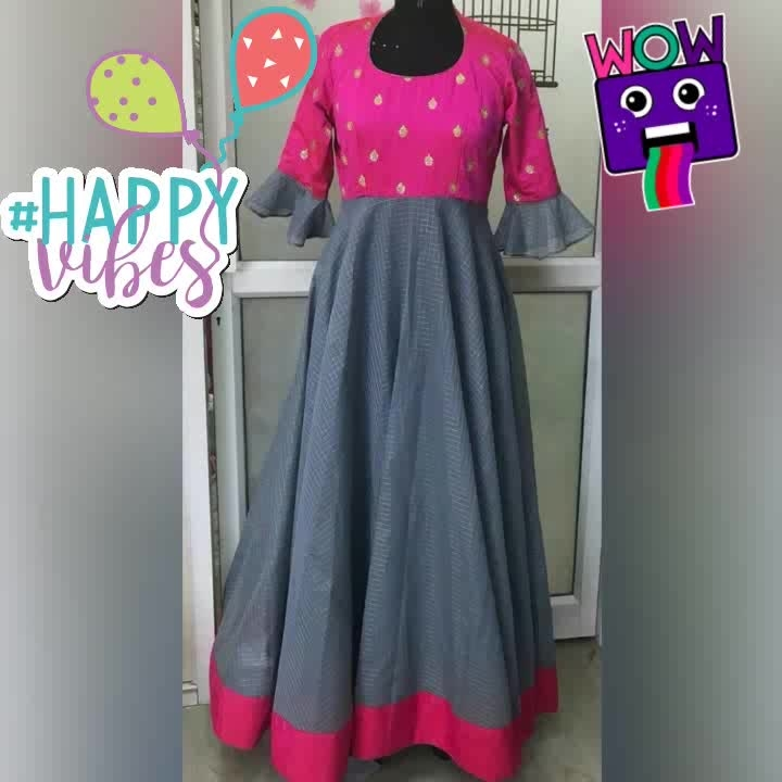 For enquiry mail us: priyahdesigns@gmail.com or for order WhatsApp us:7093663863 or dm me. Colours available.. #pink#grey#maxidress#loveforpink#pinklove #greylove#pinkish#flowerhands#fullsleeves#embroidery#paris#london#france#lovethiscombination #wow #happyvibes #hearts #glitter