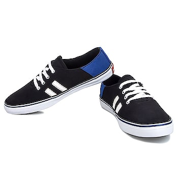 #LeeParke Men Black Casual Canvas Sneakers for men. Make yourself comfortable and stylish with these pair of shoes. Flexible and hard wearing, the sole is crafted using PVC which will keep your feet comfortable all day long. https://www.amazon.in/dp/B07BFXWC7H #MenShoes #Menscanvasshoes #Canvassneakers #fashionshoes #menswear