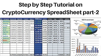 How to Create CryptoCurrecny Portfolio on Spreadsheet/ICO/Step by Step tutorial in Hindi/Urdu#PART-2