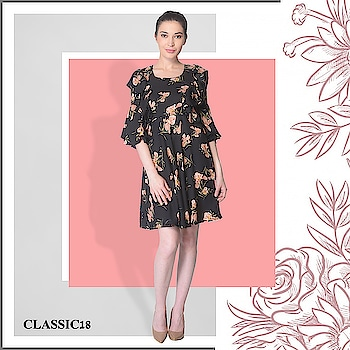 Florals are always the best option when you don't know what to wear. Wear this pretty dress and complete your look with a lipstick! Shop Now : http://bit.ly/2sFFblf #dress #midi #mini #outfits #dailywear #casualwear #casual #summerwear #dailywear #westernoutfits #ootd #potd #ootn #style #lookoftheday #getthelook #lookbook #instadaily #fashion #summercollection #trendy #instafashion #follow #pictureperfect #keepitsimple